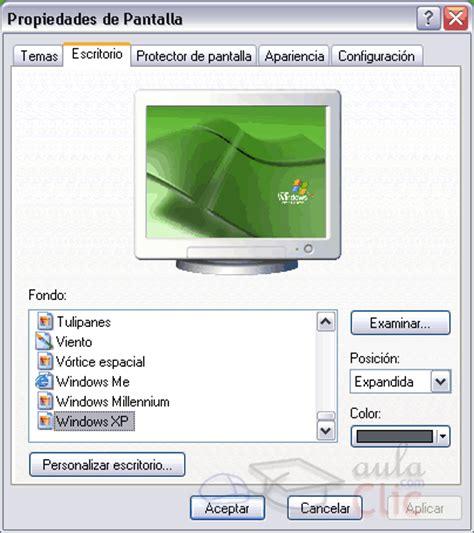 Cambiar Fondo de Pantalla   Windows XP