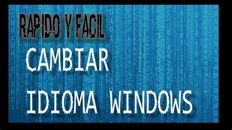 cambiar idioma de windows 7 al español   YouTube