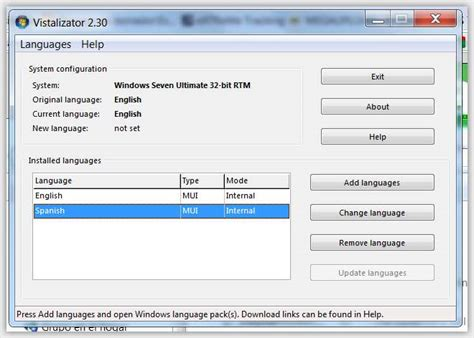 Cambiar idioma en Windows 7