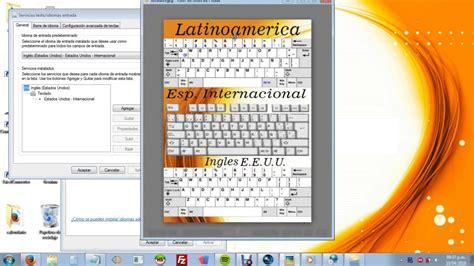 Cambiar la distribucion del teclado Windows 7 | Cambiar ...