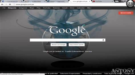 cambiar la imagen de fondo del google 2015   YouTube