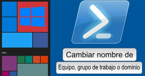 Cambiar nombre y grupo de trabajo en Windows   Migo Technology