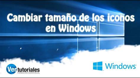 Cambiar tamaño de iconos del escritorio en Windows 10 ...