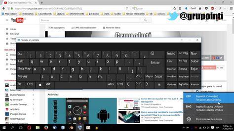 Cambiar teclado en Windows 10   YouTube