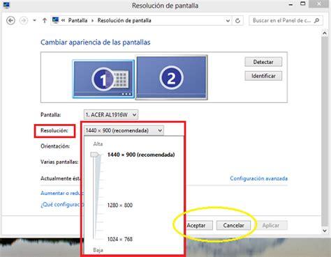 Cambiar y ajustar la resolución de pantalla en Windows 8/8 ...
