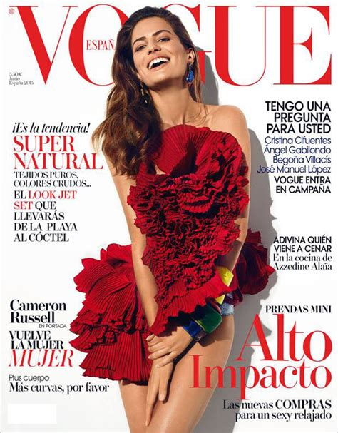 Cameron Russell Covers Vogue Spain June 2015