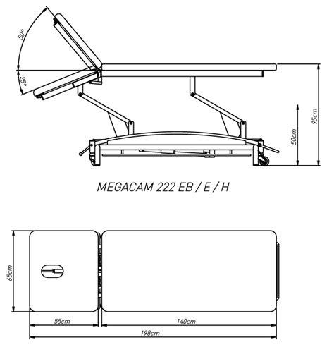 Camilla MEGACAM 222H de dos secciones hidráulica   Medical ...
