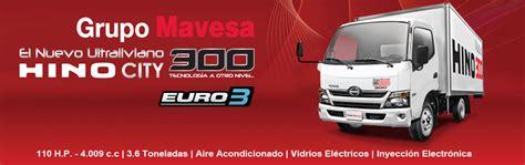 Camiones Hino de venta en MAVESA Quito, Guayaquil, Cuenca ...