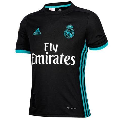 Camiseta 2ª Real Madrid 2017/2018 LaLiga Junior Negro