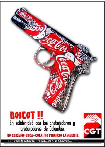 Campaña Boicot a Coca Cola   CGT   Confederal