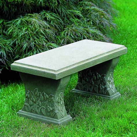 Campania International Snowdrop Cast Stone Backless Garden ...