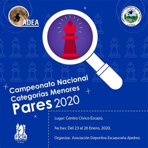 Campeonato Nacional Categorías Menores Pares 2020 | FCA ...