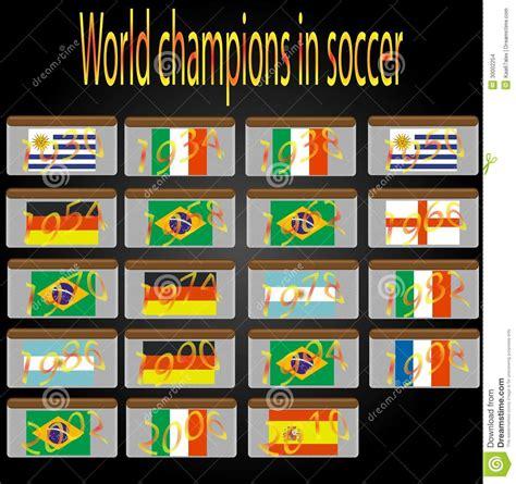 Campeones Del Mundo En Fútbol Ilustración del Vector ...