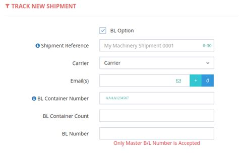 Can I track my container with BL number?   Container ...