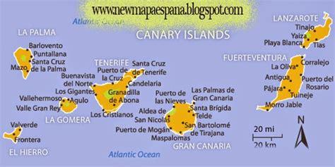Canarias Mapa Región Política | Mapa Espana Político ...