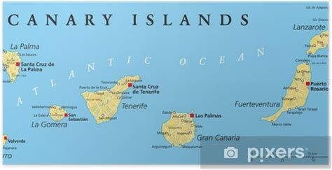 Canary Islands Political Map Poster • Pixers • We live to ...