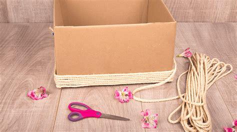 Canasta Decorativa y Organizadora • Manualidad Con Cartón ...