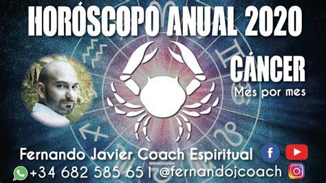 CÁNCER 2020| HORÓSCOPO ANUAL 2020 CÁNCER| ASTROLOGÍA|TAROT ...