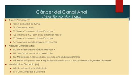 Cáncer de ano y canal anal