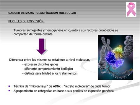 Cáncer de mama: Clasificación molecular