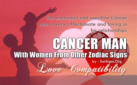 Cancer Man Compatibility With Women From Other Zodiac ...