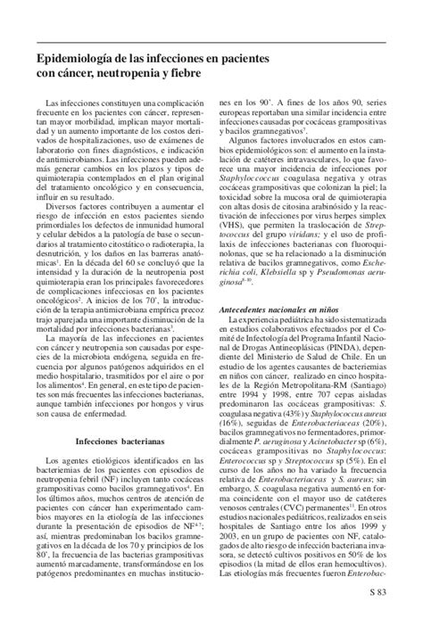 Cancer neutropenia fiebre