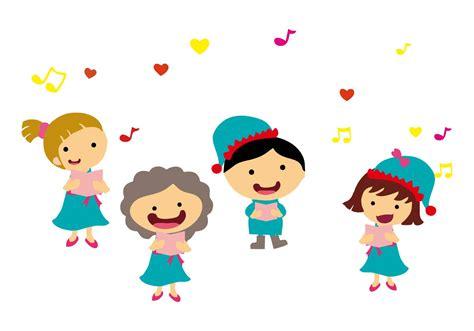 Canciones de los niños libres que cantan el vector ...