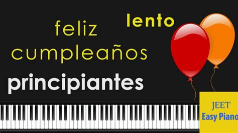 canciones faciles para piano tutorial feliz cumpleaños ...