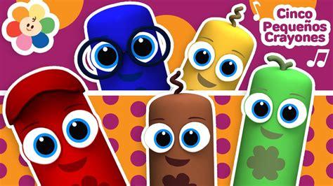 ¡Canciones Infantiles!   Cinco Crayones Saltando en la ...