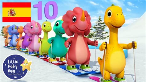 Canciones Infantiles | Diez Dinosaurios | Parte 2 ...
