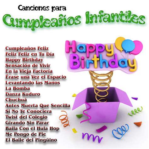 Canciones para Cumpleaños Infantiles by Various Artists on ...