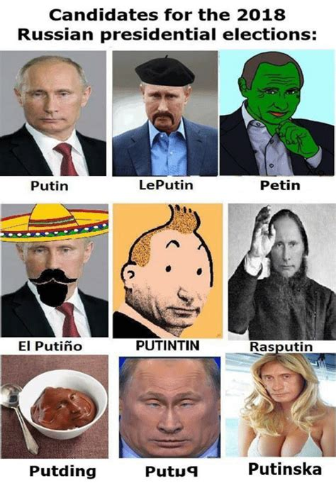 Candidates for the 2018 Russian Presidential Elections ...