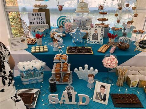 Candy Bar # Mesa dulce #mesa de postre #primera comunión ...