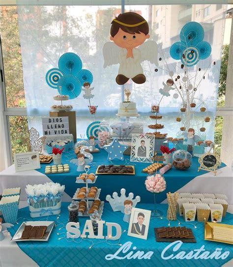 Candy Bar #Mesa dulce #Mesa de Postres Comunión Niño ...