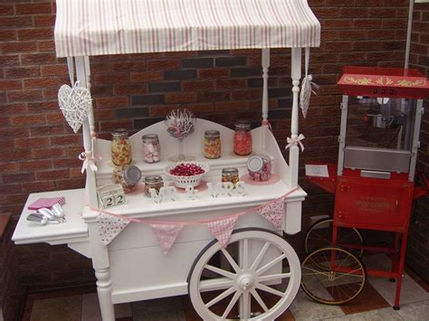 Candy cart and popcorn machine supplied by Linc Events ...