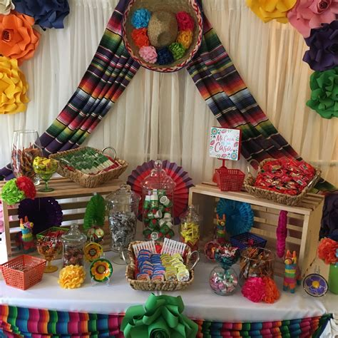 Candy table for Mexican fiesta party. | Mexican party ...