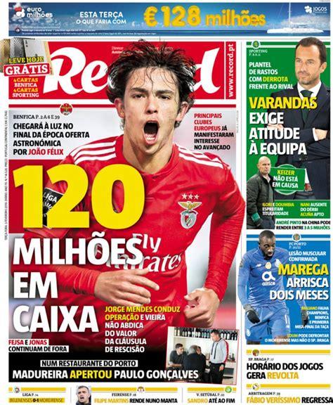 Capa Jornal Record   5 fevereiro 2019   capasjornais.pt