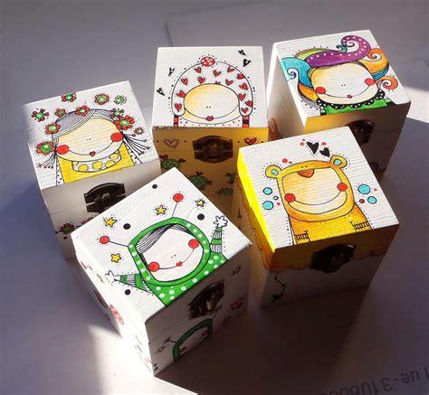 CAPERUCITAZUL | Cajas pintadas, Artesanías caja de madera ...