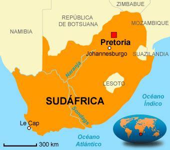 Capital Sudafrica Mapa