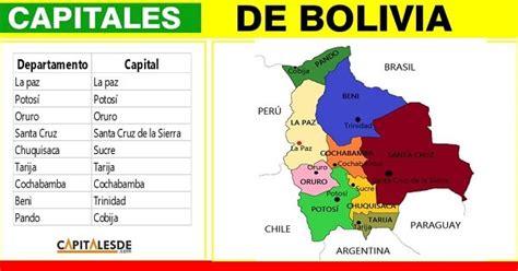 Capitales de bolivia con sus departamentos   LISTADO ...