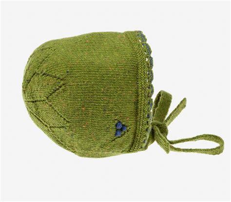 Capota de punto en color verde musgo con marino. O ...