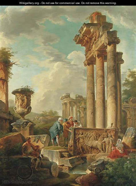 Capricci of Roman Ruins with Figures    after  Giovanni ...