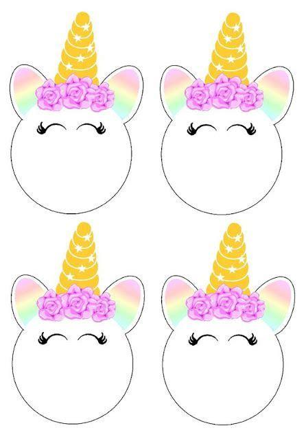 Cara de Unicornio: Toppers o Etiquetas para Imprimir ...