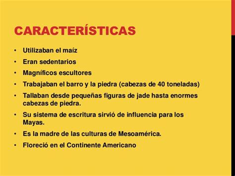Características de la cultura olmeca.   Brainly.lat