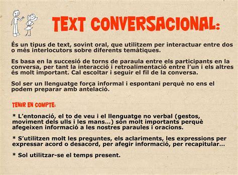 Característiques text conversacional | Tipos de texto ...