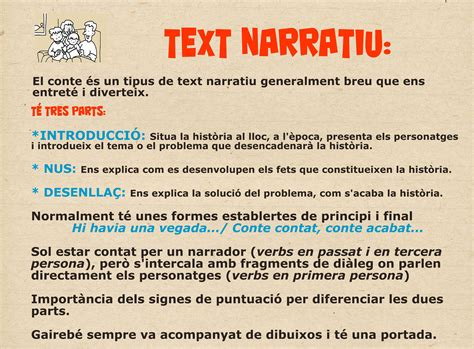 Característiques text narratiu | Tipos de texto ...