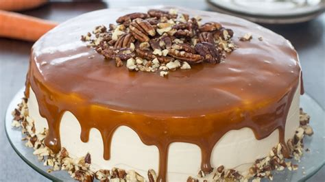 Caramel Carrot Cake Recipe   YouTube