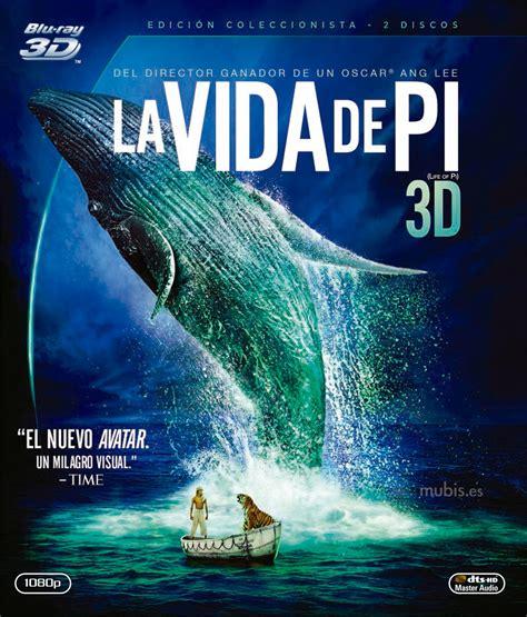 Carátula de La Vida de Pi Blu ray 3D