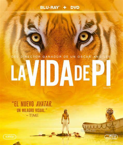 Carátula de La Vida de Pi Blu ray
