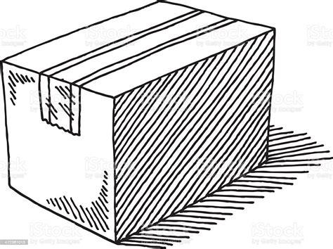 Cardboard Box Closed Drawing Stock Illustration   Download ...